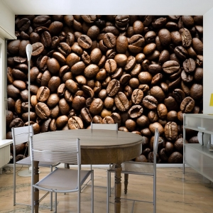 Fototapeta - Roasted coffee beans